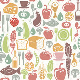 Gesundes Lebensmittelmuster Stockbild