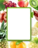 Gesundes organisches Gemüse und Früchte stockfotografie