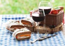 Gesundes Picknick für zwei Lizenzfreie Stockfotos
