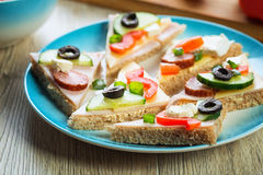 Gesundes Sandwich stockfotos