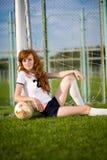 Gesundes schönes Mädchen    Lizenzfreies Stockfoto
