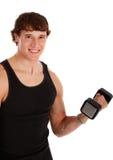 Gesundes schauendes junger Mann-anhebendes Gewicht Lizenzfreie Stockfotos