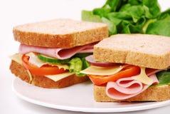 Gesundes Schinkensandwich mit stockfoto