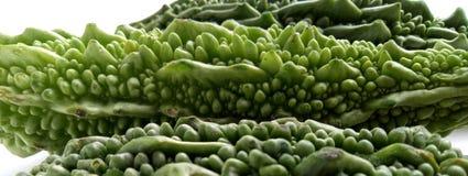 Gesundes und medizinisches Gemüselebensmittel des bitteren Kürbisses stockfoto