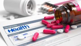 Gesundheit - Benennung in der Anamnese 3d übertragen Lizenzfreies Stockfoto