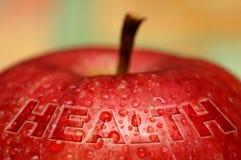 Gesundheit - nasser Apfel Stockfotografie