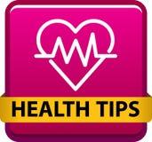 Gesundheit spitzt Knopf lizenzfreie abbildung
