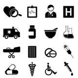 Gesundheit und medizinische Ikonen Stockfotos