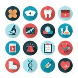Gesundheit und medizinische Ikonen Lizenzfreie Stockfotos