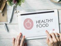 Gesundheit Wellness-Diät-Übungs-organisches Konzept Stockbild