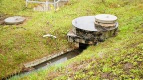 Gesundheitlicher Abwasserkanal Lizenzfreie Stockbilder