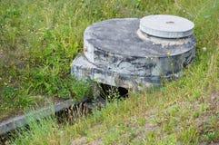 Gesundheitlicher Abwasserkanal Stockbild