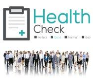 Gesundheits-Check-Diagnosen-Beschwerdenen-Analyse-Konzept Stockfotografie