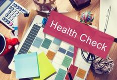 Gesundheits-Check-Sorgfalt-medizinische Frage-körperliches Behandlungs-Konzept Stockfotografie