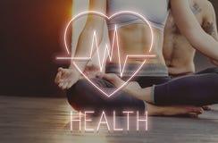 Gesundheits-Herzschlag-Ikonen-Symbol-Konzept Lizenzfreies Stockfoto
