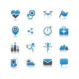 Gesundheits-Ikone Lizenzfreie Stockfotos