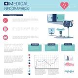 Gesundheits-Medizin Infographics-Informations-Fahne mit Kopien-Raum stock abbildung