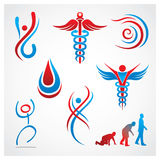 Gesundheits-medizinische Symbole Stockfotografie