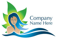 Gesundheits-Natur-Logo Stockfoto