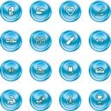Gesundheits-und Eignung-Ikonen-Set stock abbildung