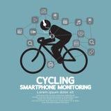 Gesundheits-und Eignungs-Smartphone-Überwachung Lizenzfreies Stockfoto