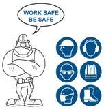 Gesundheits-und Sicherheits-Zeichen Lizenzfreie Stockbilder