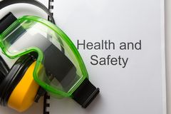 Gesundheits- und Sicherheitsregister Stockfoto