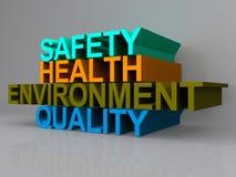 Gesundheits- und Sicherheitszeichen Stockfotos