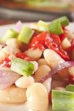 Gesundheits-weiße Bohnen-Salat Stockbild