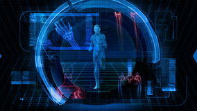 Gesundheits-Wissenschaft - Schleife der Hintergrund-grafische Animations-HD vektor abbildung