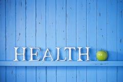 Gesundheits-Wort-Hintergrund Stockfotografie