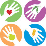 Gesundheitsbezogene helfende Hände Stockfotos
