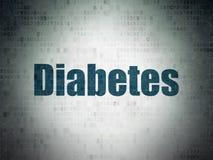 Gesundheitskonzept: Diabetes auf Digital-Daten-Papierhintergrund lizenzfreie abbildung