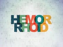 Gesundheitskonzept: Hemorrhoid auf Digital-Daten-Papierhintergrund lizenzfreie abbildung