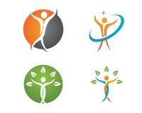 Gesundheitsleben und Spaßlogo Lizenzfreies Stockbild