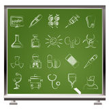 Gesundheitspflege-, Medizin- und Krankenhausikonen Lizenzfreie Stockbilder