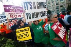 Gesundheitspflege-Protest Stockbild