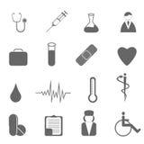 Gesundheitspflege und medizinische Symbole Lizenzfreies Stockbild
