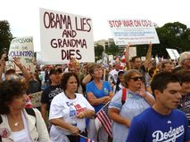 Gesundheitspflege-Verbesserung-Protest Lizenzfreies Stockbild