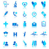 Gesundheitspflegeikonen Stockbilder