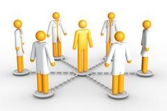 Gesundheitspflegenetz Lizenzfreie Abbildung
