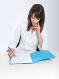 Gesundheitspflegeschreibarbeit Lizenzfreie Stockfotografie
