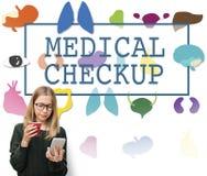 Gesundheitswesen-Behandlungs-Verhinderungs-medizinische Überprüfungs-Konzept Stockbilder