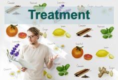 Gesundheitswesen-Behandlungs-Vitamin-Gesundheits-Konzept Lizenzfreie Stockfotos