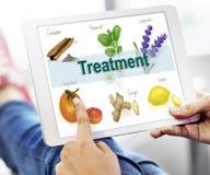 Gesundheitswesen-Behandlungs-Vitamin-Gesundheits-Konzept Stockbild