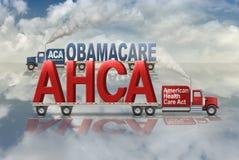 Gesundheitswesen durch Republikaner gegen Demokraten - Illustration 3D Stockfotos