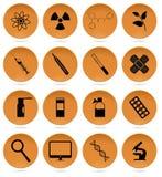 Gesundheitswesen-Ikonen-Satz Lizenzfreie Stockbilder