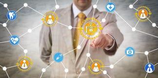 Gesundheitswesen-Marketingspezialist Connecting With Consumers Lizenzfreie Stockfotos