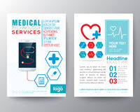 Gesundheitswesen und medizinischer Plakat-Broschüren-FliegerEntwurf Lizenzfreies Stockbild