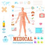Gesundheitswesen und medizinisches Infographics vektor abbildung